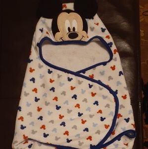 Disney Mickey Mouse Infant Baby Wrap Towel